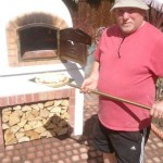 Norman family from South Wales' Wood Fired Pizza Oven